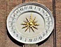 Santi Apostoli church clock Stock Image