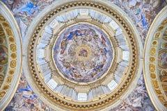 Santi Apostoli - La cupola. Cappella del Tesoro di San Gennaro, Duomo di Napoli Royalty Free Stock Images