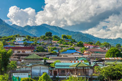 Santi Chon village on the hill in Mae Hong Son Province, Northern Thailand Stock Photos