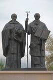 Santi Cirillo e Metodio Skopje Fotografie Stock