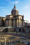 Santi Luca e Martina Church located between the Roman Forum and the Forum of Caesar Rome, Italy Stock Photo