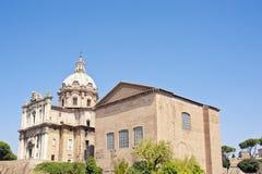 Santi Luca e Martina church in Rome, Italy Stock Images