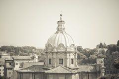 Santi Luca e Martina church in Rome, Italy Stock Image