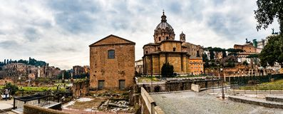 Santi Luca e Martina is a church in Rome, Italy Stock Images