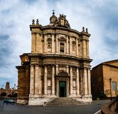 Santi Luca e Martina is a church in Rome, Italy Royalty Free Stock Images