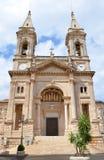 Santi Medici教会在阿尔贝罗贝洛 免版税库存照片