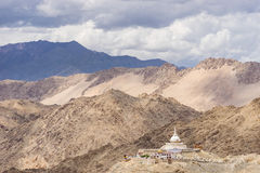 Santi stupa in the cloudy day, Leh, Ladakh Royalty Free Stock Photo