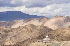 Santi stupa in the cloudy day, Leh, Ladakh Royalty Free Stock Photo