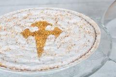 Santiago almond cake Royalty Free Stock Photo