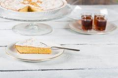 Santiago almond cake Royalty Free Stock Photos