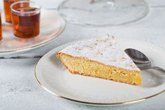 Santiago almond cake Stock Images