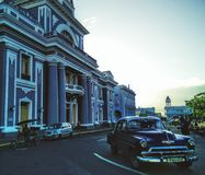 Santiago azul fotografia de stock royalty free