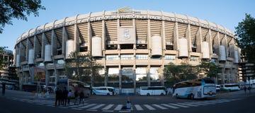 Santiago Bernabéu façade. Front facade of Santiago Bernabéu in Madrid royalty free stock image