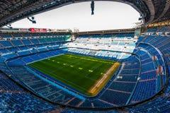 Santiago Bernabéu - Madrid. Inside view of stadium Santiago Bernabéu stock image