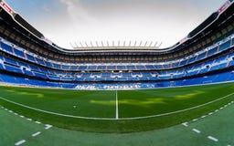 Santiago Bernabéu pitch and tribune. Inside view of stadium Santiago Bernabéu royalty free stock image