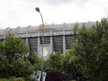 Santiago Bernabéu Stadium Paseo de la Castellana Spain Europe. NnThe Santiago Bernabéu Stadium is a sports venue owned by the Real Madrid Football Club Royalty Free Stock Photos