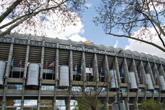 Santiago Bernabeu. The Santiago Bernabeu Stadium in madrid, Spain stock image