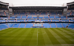 Santiago Bernabeu. The Santiago Bernabeu in Madird, February 28 2010. Real Madrid are the most successful and richest football team in the world stock photo