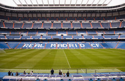 Santiago Bernabeu. The Santiago Bernabeu in Madird, February 28 2010. Real Madrid are the most successful and richest football team in the world royalty free stock image