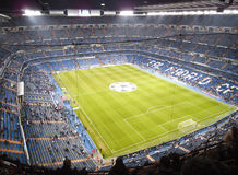 Santiago Bernabeu. The Santiago Bernabeu in Madird, February 28 2010. Real Madrid are the most successful and richest football team in the world royalty free stock images