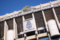 Santiago Bernabeu. Real Madrid Stadium - Santiago Bernabeu, outdoor view stock photos