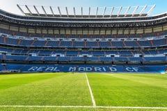 Santiago Bernabeu Arena. Visiting Santiago Bernabeu stadium - the official arena of FC Real Madrid royalty free stock image