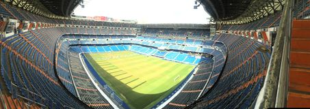 Santiago bernabeu the hole stadium. A pefect day at the field stock images