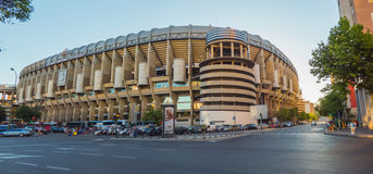Santiago Bernabeu July. MADRID, SPAIN - JULY 28: Facade of the Santiago Bernabeu Stadium on July 28, 2015 in Madrid, Spain. Real Madrid is one of the best soccer stock photography