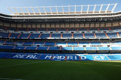 Santiago Bernabeu, Madrid. Front internal view of Santiago Bernabeu, stadium of spanish team of Rel Madrid royalty free stock images