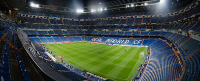 Santiago bernabeu at night Royalty Free Stock Photos