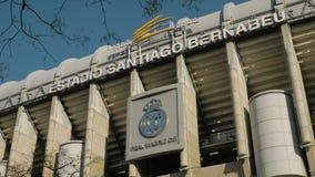 Santiago Bernabeu real madrid i stadium logo w Hiszpania zbiory