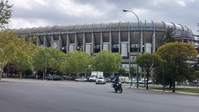 Santiago Bernabeu Spain. Amazing monument in Madrid (Spain) puerta del sol Royalty Free Stock Photos