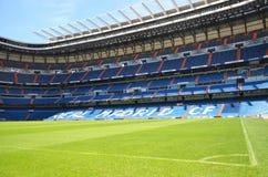 Santiago Bernabeu stadion av verkliga Madrid Royaltyfri Foto