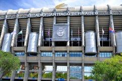 Santiago Bernabeu stadion av verkliga Madrid Arkivfoton
