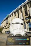 Santiago Bernabeu stadion i Madrid Royaltyfri Bild