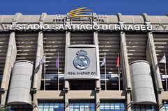 Santiago Bernabeu Stadium. Of Real Madrid, Spain. Real Madrid C.F. was established in 1902. It is the best club of XX century according to FIFA stock images