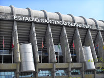Santiago Bernabeu stadium. Stadium of Real Madrid photographed in a sunny day Stock Images
