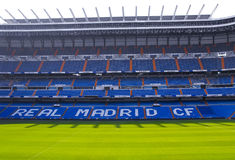 Santiago Bernabeu stadium. Stadium of Real Madrid photographed in a sunny day Stock Image