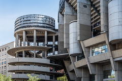 Santiago Bernabeu Stadium. It is the current home stadium of Real Madrid Football Club. Madrid, Spain - September 14, 2016: Santiago Bernabeu Stadium. It is the stock photos