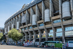Santiago Bernabeu Stadium. It is the current home stadium of Real Madrid Football Club. stock images