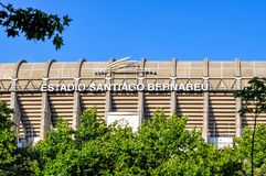 Santiago Bernabeu stadium of FC Real Madrid, Spain royalty free stock image