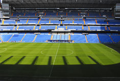 Santiago Bernabeu stadium from Madrid. Stadium of Real Madrid photographed in a sunny day royalty free stock image