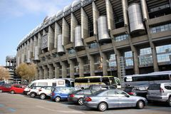 Santiago Bernabeu Stadium in Madrid, Spain. Santiago Bernabéu, a stadium of one of the best football (soccer) teams in the world - Real Madrid. It was royalty free stock photography