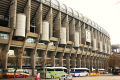 Santiago Bernabeu Stadium in Madrid, Spain Stock Photography