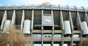 Santiago Bernabeu Stadium in Madrid, Spain Royalty Free Stock Photos