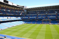 Santiago Bernabeu Stadium of Real Madrid. On August 25, 2012 in Madrid, Spain. Real Madrid C.F. was established in 1902. It is the best club of XX century royalty free stock photos