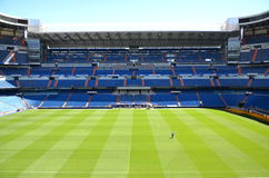 Santiago Bernabeu Stadium of Real Madrid. On August 25, 2012 in Madrid, Spain. Real Madrid C.F. was established in 1902. It is the best club of XX century stock photo