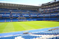 Santiago Bernabeu Stadium of Real Madrid. On August 25, 2012 in Madrid, Spain. Real Madrid C.F. was established in 1902. It is the best club of XX century stock image