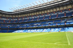 Santiago Bernabeu Stadium of Real Madrid. On August 25, 2012 in Madrid, Spain. Real Madrid C.F. was established in 1902. It is the best club of XX century royalty free stock photo