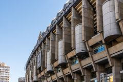Santiago Bernabeu stadium. Real Madrid football club. Madrid, Spain - May 1, 2019: Santiago Bernabeu football stadium. Is the home stadium of Real Madrid royalty free stock photos